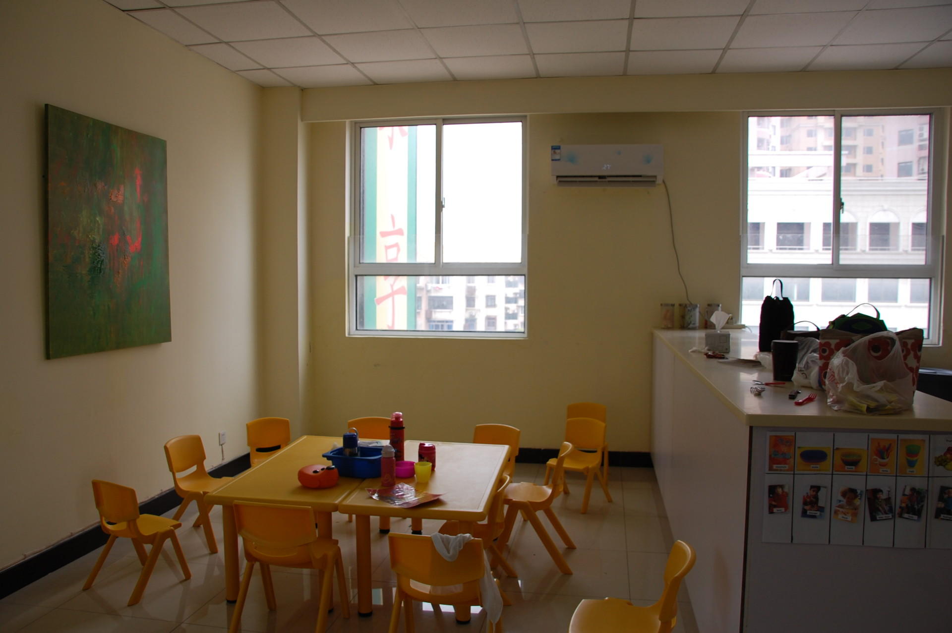 Almost lunch time! Our Lujiazui Campus kitchen and dining area.