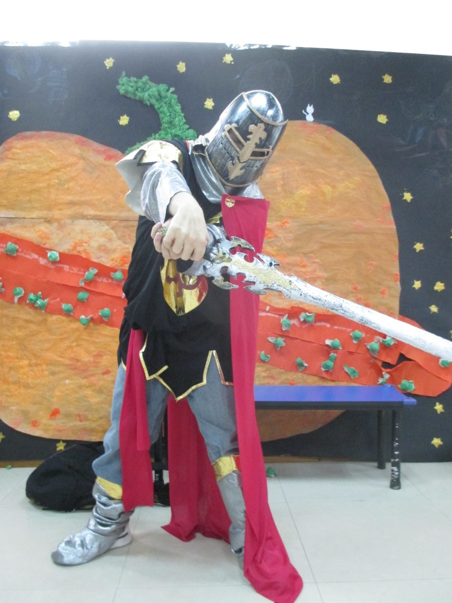 I dressed up as a knight for the Halloween party at ELG.